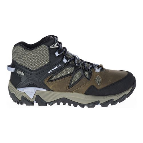 Womens Merrell All Out Blaze 2 Mid Waterproof Hiking Shoe - Dark Olive 10.5