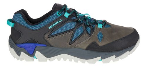 Womens Merrell All Out Blaze 2 Waterproof Hiking Shoe - Pewter/Blue 10