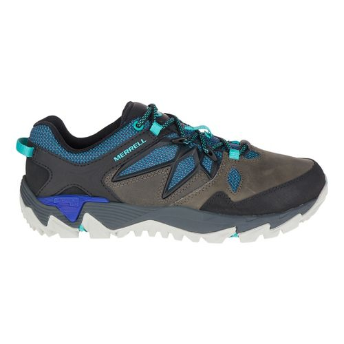 Womens Merrell All Out Blaze 2 Waterproof Hiking Shoe - Pewter/Blue 9
