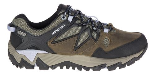 Womens Merrell All Out Blaze 2 Waterproof Hiking Shoe - Pewter/Blue 11