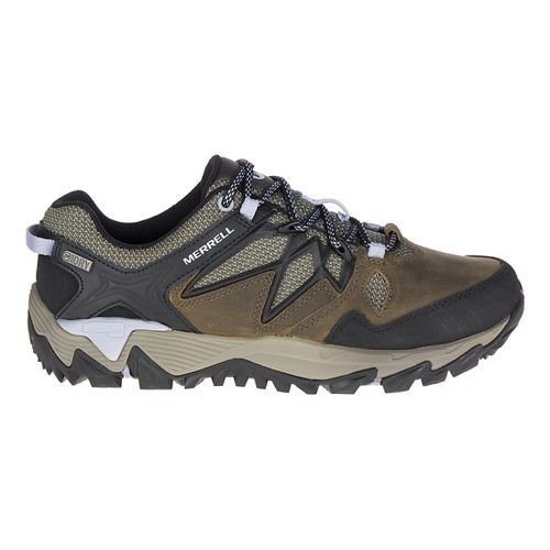 Womens Merrell All Out Blaze 2 Waterproof Hiking Shoe - Dark Olive 6.5