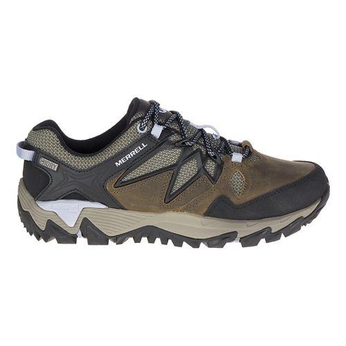 Womens Merrell All Out Blaze 2 Waterproof Hiking Shoe - Pewter/Blue 6