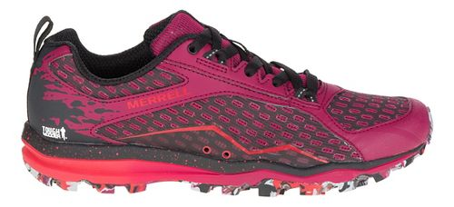 Womens Merrell All Out Crush Tough Mudder Trail Running Shoe - Beet Red 7.5