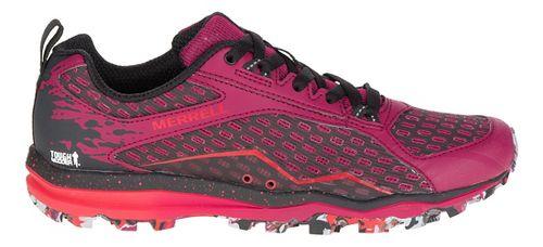 Womens Merrell All Out Crush Tough Mudder Trail Running Shoe - Beet Red 9