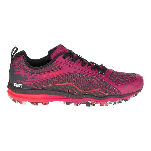 Womens Merrell All Out Crush Tough Mudder Trail Running Shoe - Beet Red 7