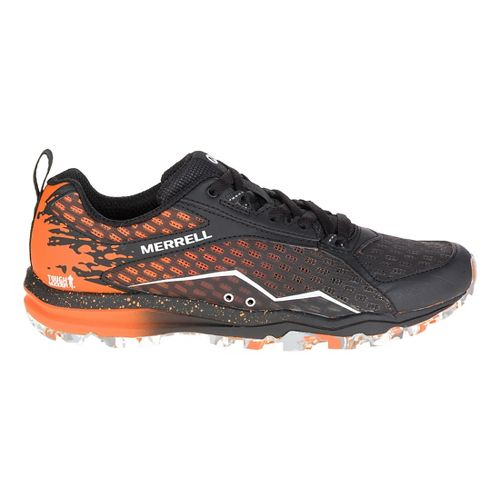 Womens Merrell All Out Crush Tough Mudder Trail Running Shoe - Orange 7.5