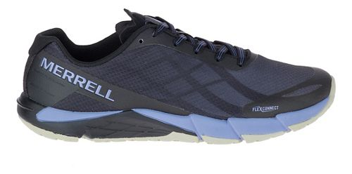 Womens Merrell Bare Access Flex Running Shoe - Black/Lilac 5
