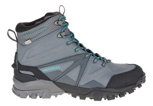 Womens Merrell Capra Glacial Ice+ Mid Waterproof Hiking Shoe - Charcoal Grey 6