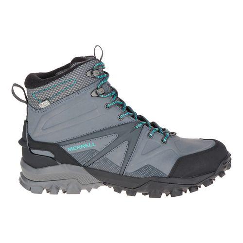 Womens Merrell Capra Glacial Ice+ Mid Waterproof Hiking Shoe - Charcoal Grey 9