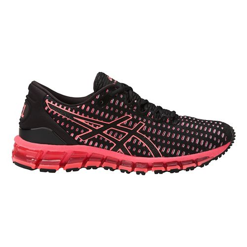 Womens ASICS GEL-Quantum 360 Shift Running Shoe - Black/Coral 6