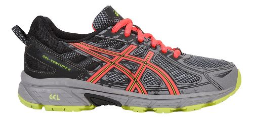 Womens ASICS GEL-Venture 6 Trail Running Shoe - Grey/Coral 8.5