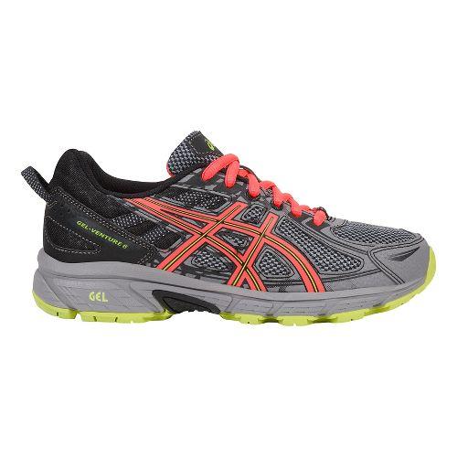 Womens ASICS GEL-Venture 6 Trail Running Shoe - Grey/Coral 11