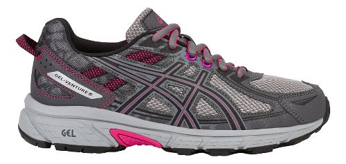 Womens ASICS GEL-Venture 6 Trail Running Shoe - Carbon/Pink 6