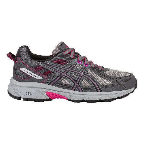 Womens ASICS GEL-Venture 6 Trail Running Shoe - Carbon/Pink 5