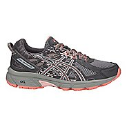 Womens ASICS GEL-Venture 6 Trail Running Shoe - Carbon/Grey/Pink 11.5
