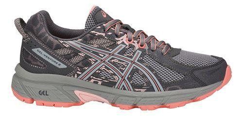 Womens ASICS GEL-Venture 6 Trail Running Shoe - Carbon/Grey/Pink 10.5