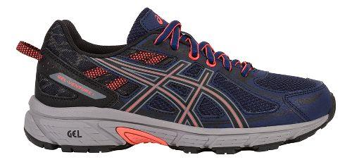 Womens ASICS GEL-Venture 6 Trail Running Shoe - Indigo/Coral 8.5