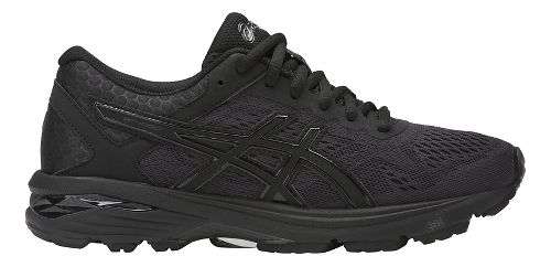 Womens ASICS GT-1000 6 Running Shoe - Black/Black 12