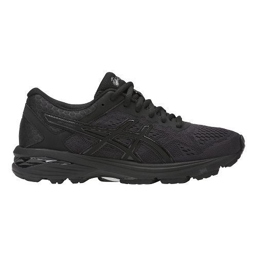 Womens ASICS GT-1000 6 Running Shoe - Black/Black 10.5