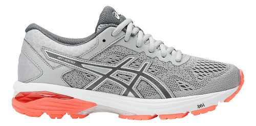 Womens ASICS GT-1000 6 Running Shoe - Grey/Coral 10.5