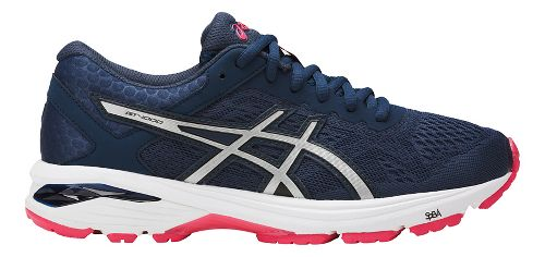 Womens ASICS GT-1000 6 Running Shoe - Navy/Silver 6