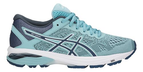 Womens ASICS GT-1000 6 Running Shoe - Blue/White 11.5