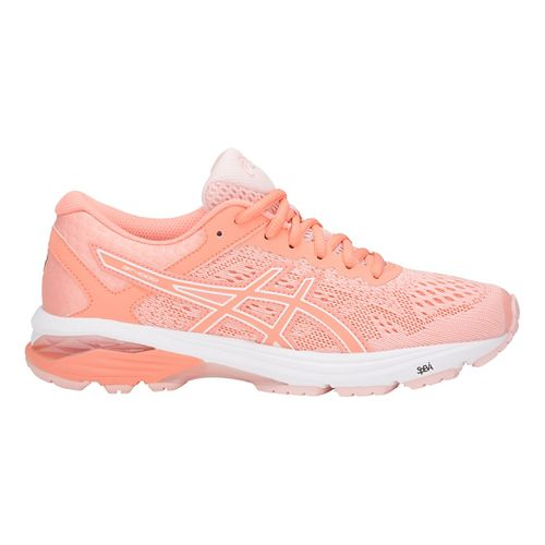 Womens ASICS GT-1000 6 Running Shoe - Pink/White 12