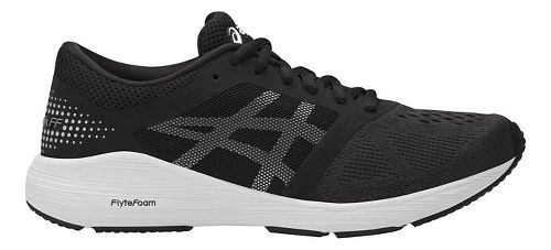Womens ASICS Roadhawk FF Running Shoe - Black/Silver 10.5