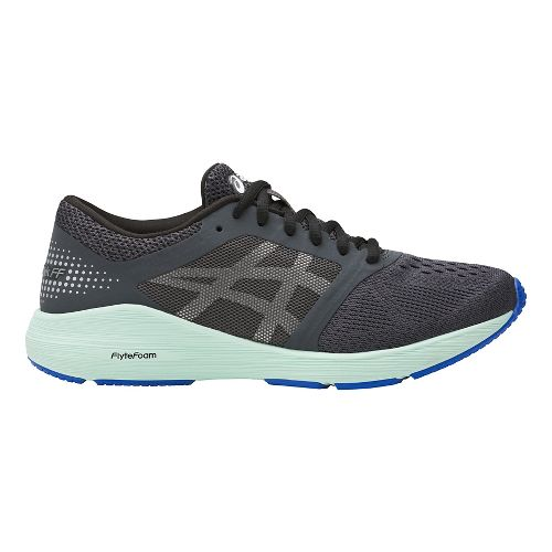 Womens ASICS Roadhawk FF Running Shoe - Dark Grey/Mint 8.5