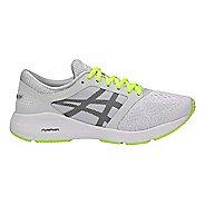 Womens ASICS Roadhawk FF Running Shoe - Grey/Black/Yellow 9