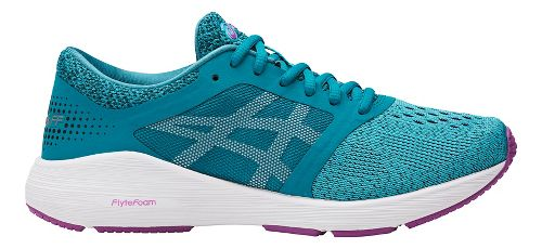Womens ASICS Roadhawk FF Running Shoe - Turquoise/Orchid 10.5
