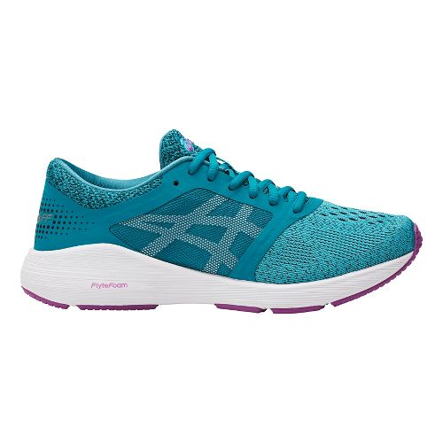 Womens ASICS Roadhawk FF Running Shoe - Turquoise/Orchid 6.5