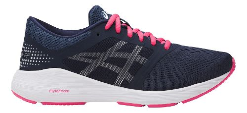 Womens ASICS Roadhawk FF Running Shoe - Navy/Pink 10.5