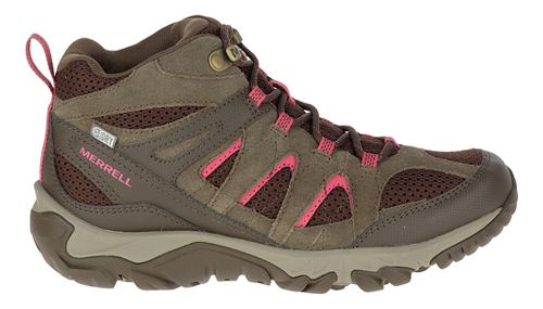 Womens Merrell Outmost Mid Vent Waterproof Hiking Shoe - Canteen 10.5