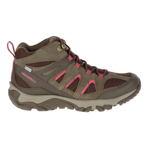 Womens Merrell Outmost Mid Vent Waterproof Hiking Shoe - Canteen 7.5