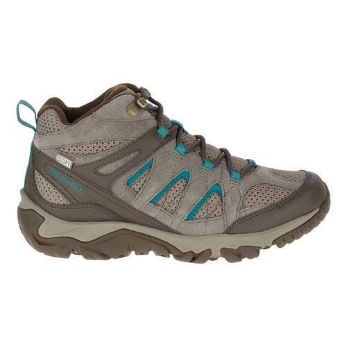 Womens Merrell Outmost Mid Vent Waterproof Hiking Shoe - Boulder 5