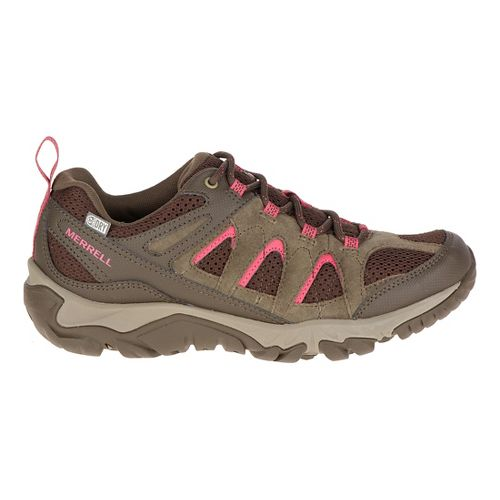 Womens Merrell Outmost Vent Waterproof Hiking Shoe - Canteen 10.5