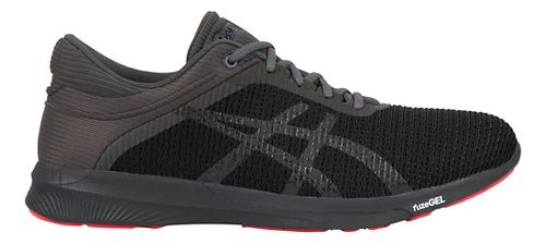 Mens ASICS fuzeX Rush CM Running Shoe - Black/Grey 8.5