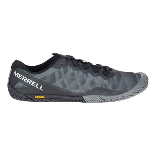 Womens Merrell Vapor Glove 3 Trail Running Shoe - Black/Silver 10.5