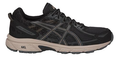 Mens ASICS GEL-Venture 6 Trail Running Shoe - Black/Grey 14