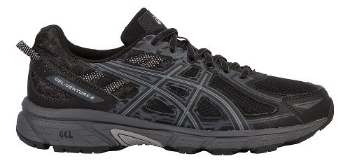 Mens ASICS GEL-Venture 6 Trail Running Shoe - Black/Grey 7