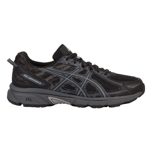 Mens ASICS GEL-Venture 6 Trail Running Shoe - Black/Grey 7.5