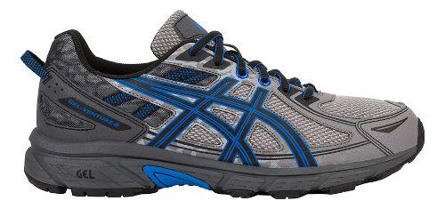 Mens ASICS GEL-Venture 6 Trail Running Shoe - Grey/Blue 12.5