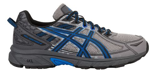 Mens ASICS GEL-Venture 6 Trail Running Shoe - Grey/Blue 9