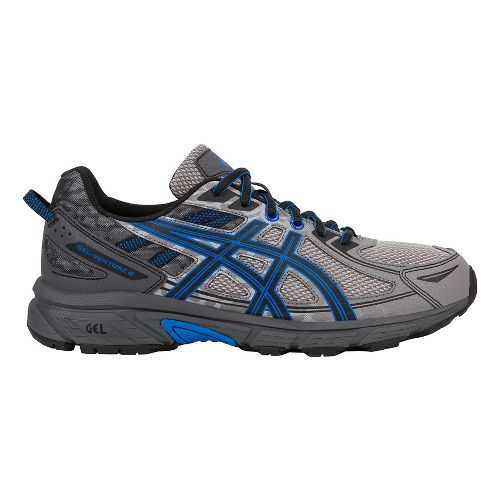 Mens ASICS GEL-Venture 6 Trail Running Shoe - Grey/Blue 12.5