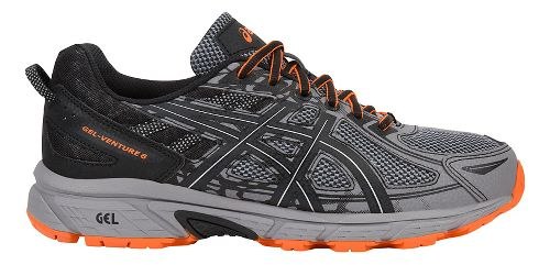Mens ASICS GEL-Venture 6 Trail Running Shoe - Grey/Orange 12.5