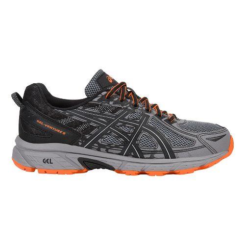 Mens ASICS GEL-Venture 6 Trail Running Shoe - Grey/Orange 12.5