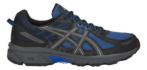 Mens ASICS GEL-Venture 6 Trail Running Shoe - Blue/Black 7