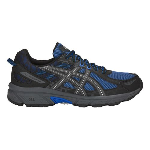 Mens ASICS GEL-Venture 6 Trail Running Shoe - Blue/Black 9