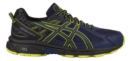 Mens ASICS GEL-Venture 6 Trail Running Shoe - Navy/Yellow 11.5
